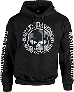 Harley-Davidson Men's Sweatshirt Willie G Skull H-D Pullover Black 30296648