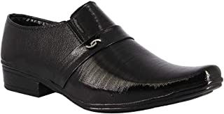 Lion-Fashion Boys Casual Black Synthetic Leather Loafer Shoes