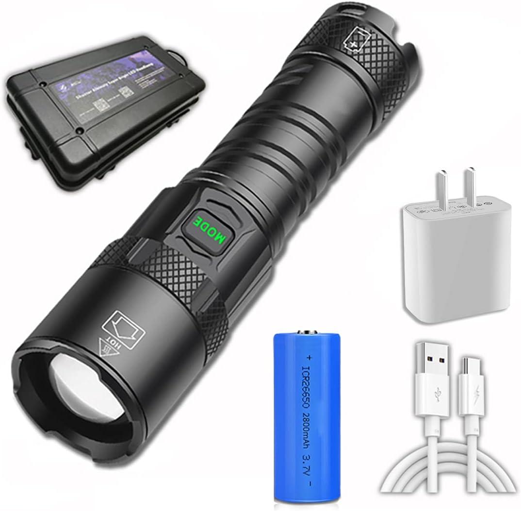 1800 Lumens LED Handheld Spotlight Flashlight Oklahoma City Mall Inexpensive Modes 5 Lighting
