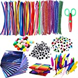 Limpiapipas,limpia Pipas Para Manualidades Incluye limpiadores de Pipas,Pipe Cleaners Crafts Set,Limpiadores de Pipa Chenilla Stem, Manualidades para Niños