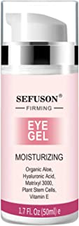 Eye Gel, Best Eye Cream for Appearance of Dark Circles, Puffiness, Wrinkles and Bags. Super Eye Cream Moisturizer Serum for Men & Women