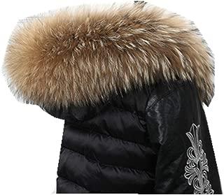 100% Natural Real Raccoon Fur Collar Women Winter Warm Scarf