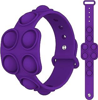 ELECDON Stress Relief Wristband Toys, Wearable Push Pop Bubble Sensory Fidget Hand Finger Press Silicone Bracelet Toy for ...