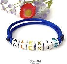 Bracciale ALEXIS bigiotteria con nome, testo, messaggio; regalo personalizzato per adulti e bambini; creazione personalizz...