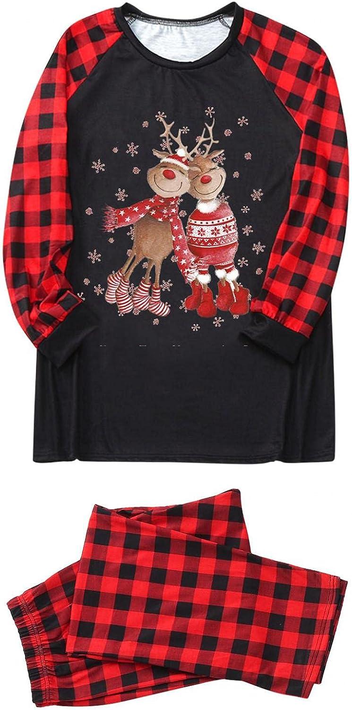 felwors Christmas Pjs Matching Sets Baby Holiday Xmas Matching Jammies for Adults and Kids Christmas Sleepwear Set