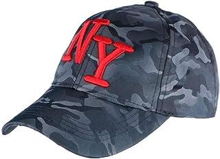 38809d95a877a Hip Hop Honour Casquette NY Militaire Bleu Marine et Rouge Graphisme  Baseball Armee Koft - Mixte