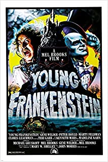 GENE WILDER MADELINE KAHN young frankenstein 1974 movie poster 24X36 CAMPY (reproduction, not an original)