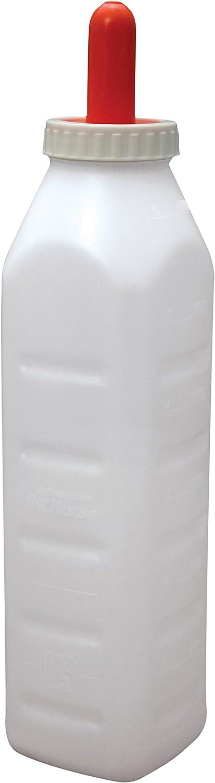 EZ Nurse Feeding Supplies 3 Quart ScrewOn Calf Nursing Set of Bottle with Nipple & Cap, Small