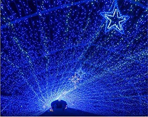 Xingyue Mythology LED Festival Lanterne 10 M ImperméAble à L'Eau Clignotant SéRie Feux De Mariage Nouvel An LumièRes DéCoratives éToiles Star NéOn LumièRes DéCoration , blue