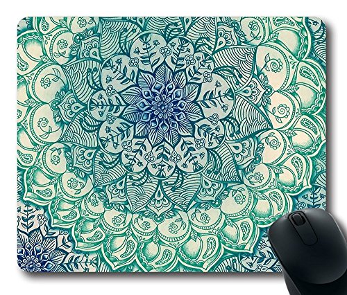 Gaming Mouse Pad Customized Natural Eco Rubber Mousepad Geometric Patterns Oblong Mouse Pad