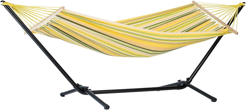 AMAZONAS Jamaica Set Canaria Komplett-Set aus Hngematte inkl. Gestell extra stabil wetterfest UV-Bestendig