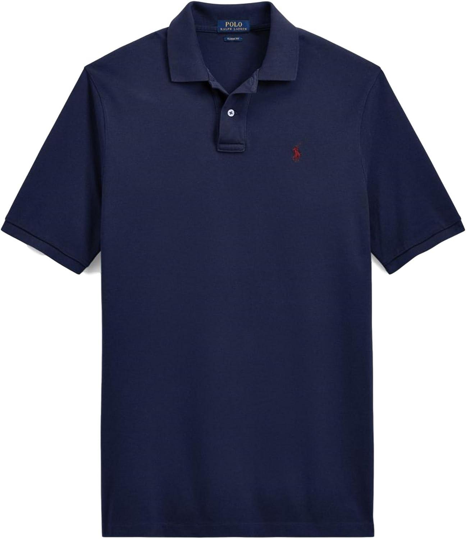 Polo Ralph Lauren Classic Fit Mesh Pony Logo Polo Shirt (S, WindsorNavy)