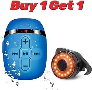 Waterproof MP3 Player Bundle Rechargeable Smart Bike Tail Light