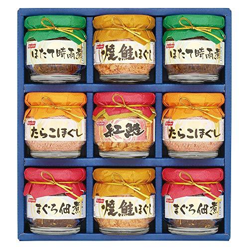 ニッスイ ニッスイ詰合せ BA-50B(焼鮭ほぐし 55g(2個)・たらこほぐし 50g (2個)・まぐろ佃煮 50g(2個)・ほたて時雨煮 50g(2個)・紅ざけほぐし身 50g(1個)) 日本水産