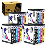 ONLYU 18XL Cartuchos de Tinta Reemplazo para Epson 18 18 XL Compatible con Epson Expression Home XP-322 XP-215 XP-205 XP-225 XP-305 XP-325 XP-422 XP-405 XP-415 XP-425 XP-315 XP-312 (Paquete de 20)