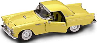 Yat Ming Scale 1:18-1955 Ford Thunderbird with Removable Hard Top, Yellow