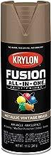 Krylon K02774007 Fusion All-in-One Spray Paint, Vintage Brass