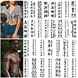 Tattoo Chinese 130+,Realistic and Elegant Temporary Tattoos of Chinese Characters, Fake Tattoo of Letters Waterproof and Long-Lasting