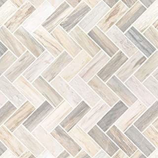 Angora Herringbone Pattern Polished Mosaic Wall Tile, 8 SFT/case, (8 Pcs)