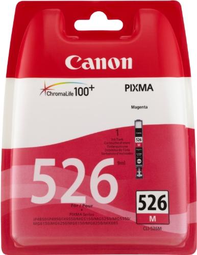 Canon CLI-526 M original Tintenpatrone  Magenta für Pixma Inkjet Drucker MX715-MX885-MX895-MG5150-MG5250-MG5350-MG6150-MG6250-MG8150-MG8250-iP4850-iP4950-iX6550