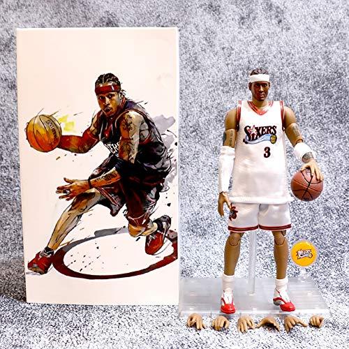 Serie Estrella De La NBA Figuras De Acción De Iverson Philadelphia Sixers Modelo No. 3 para Regalo De Niño para La Decoración del Jardín del Hogar PVC - 8.5 Pulgadas