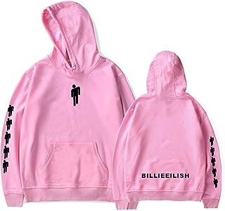 Flyself Unisex Billie Eilish Hoodie Casual Hip-hop Long Sleeve Sweatshirts Jumper Pullover for Men Women Teen