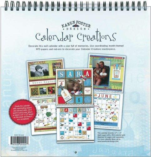 Karen Foster 12 x 12-inch kalender creaties blanco wandkalender, meerkleurig
