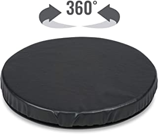 HealthSmart Deluxe Swivel Seat Cushion for Car or Chair, Black Leatherette