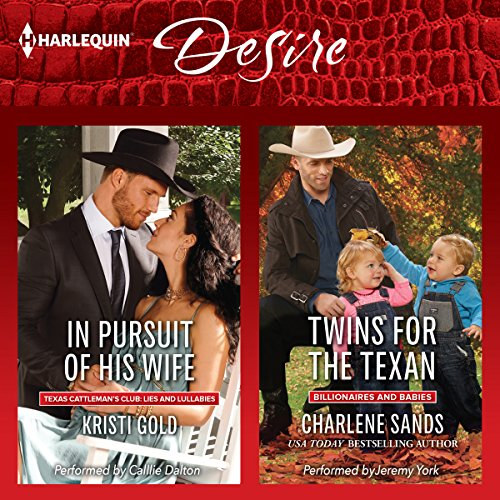 In Pursuit of His Wife & Twins for the Texan audiobook cover art