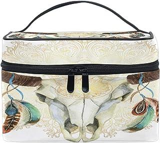 e0204e4c81da Amazon.com: skull bag - Cosmetic Bags / Bags & Cases: Beauty ...