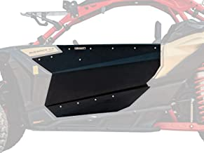 SuperATV Heavy Duty Aluminum Doors for Can-Am Maverick X3 (2017+) - Easy Installation and a Rattle-Free Fit! - Wrinkle Black