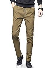 NEWHEY チノパン メンズ スキニーパンツ スーパーストレッチ スウェットズボン 細身デザイン 大きいサイズ 秋 冬 ブラック ネイビー グレー