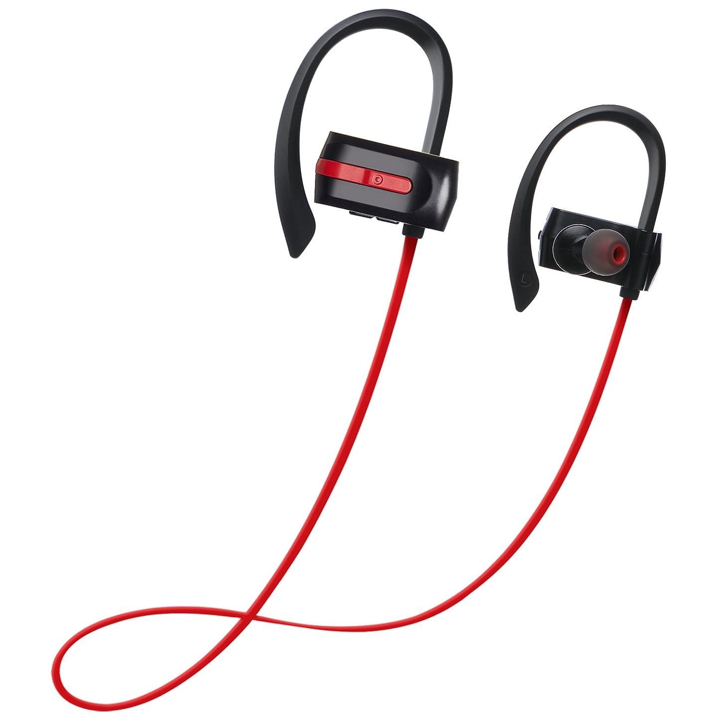 ラフのためシルクZENBRE E3 Bluetooth4.1スポーツイヤホン【7時間連続再生/低音強化ステレオベース/IPX4防水】(レッド)
