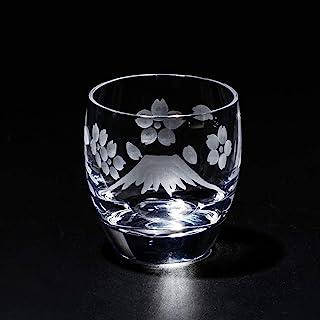 江戸切子 富士山に桜 冷酒グラス TB0050-33 紙箱入り 太武朗工房直販 日本製