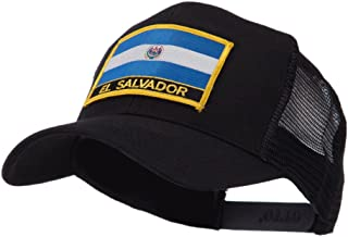 North and South America Flag Letter Patched Mesh Cap - El Salvador OSFM