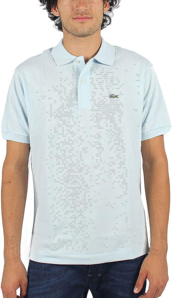 Lacoste Short Sleeve Pique Polo (XL / EUR7, Rill Light Blue)