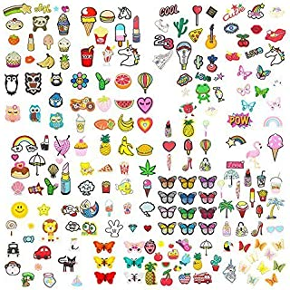 Soleebee Mixed Random Iron-on Sew-on Patches Applique Accessories Hand Embroidered Patches Set (Pack of 30)