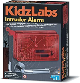 4M 61118 Kidzlabs Intruder Alarm For Unisex - Red