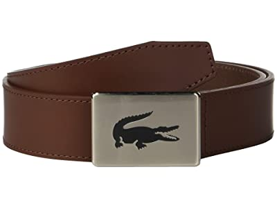 Lacoste Classic Big Croc Buckle Belt (Narcissus/Navy Blue/Turkish Delight/Lapwing) Men