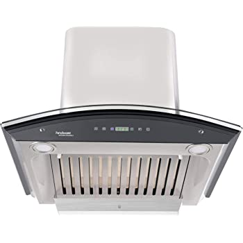 Hindware 60cm 1200 m3/hr Auto Clean Chimney (Nevio 60, 1 Baffle Filter, Steel/Grey)