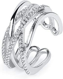 Twenty Plus Two Colored Band Style Finger Rings for Women & Girls