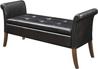 Convenience Concepts Designs4Comfort Garbo Storage Bench, Black