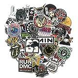 Ligoi 60 Unids/Set Retro Rock Band Music Stickers Green Day RHCP Equipaje para Guitarra Maleta Skateboard DIY Pegatinas Impermeables