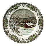 Johnson Brothers Friendly Village School House 10.5' Dinner Plate, Red/Green/Silver/Blue