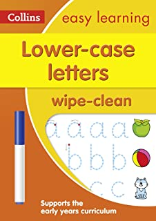 Lower Case Letters Age 3-5 Wipe Clean Activity Book: Ideal for Home Learning