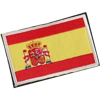 Deanyi Placa Frontera de la Bandera Nacional de España Hecho a Mano de la Bandera Insignia Bordada España Parche de Costura española: Amazon.es: Hogar