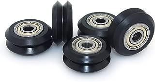 Sumje Dual V-Slot Delrin Wheel POM Plastic Idler Pulley with Bearings High Tolerance Wheel Kit 3D Printer CNC (Pack of 5 pcs)