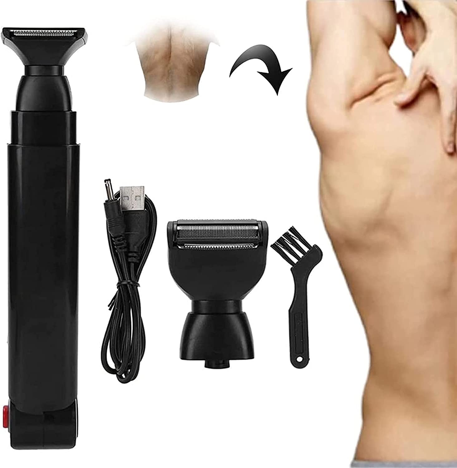 HHYGR Brand Cheap Limited price Sale Venue Electric Back Shaver Wireless USB Charging Men's