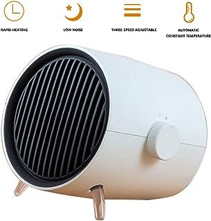 HEATER Mini Calentador Electrico CeráMico 1000W,3 Modos De contra Viento Calefactor PortáTil Cuarto BañO Oficina Sobrecalentamiento White