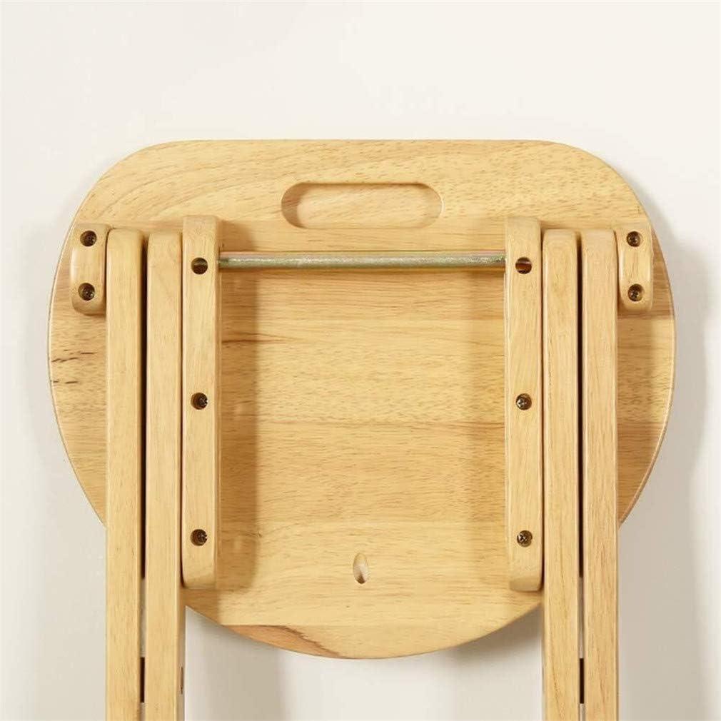 Maquillage mode chaises pliantes maison en bois massif couleur Tabouret portable à manger peut encombrant tabouret simple cuisine (Color : Brown) Brown